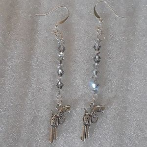Jewelry - Revolver Earrings with blinging beads, NWT,elegant